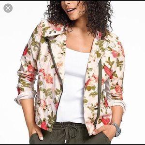 Lane Bryant Floral Moto Jacket size 28